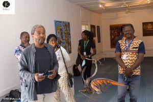Visite de l'expo du collectif wekere par simon N'jamin